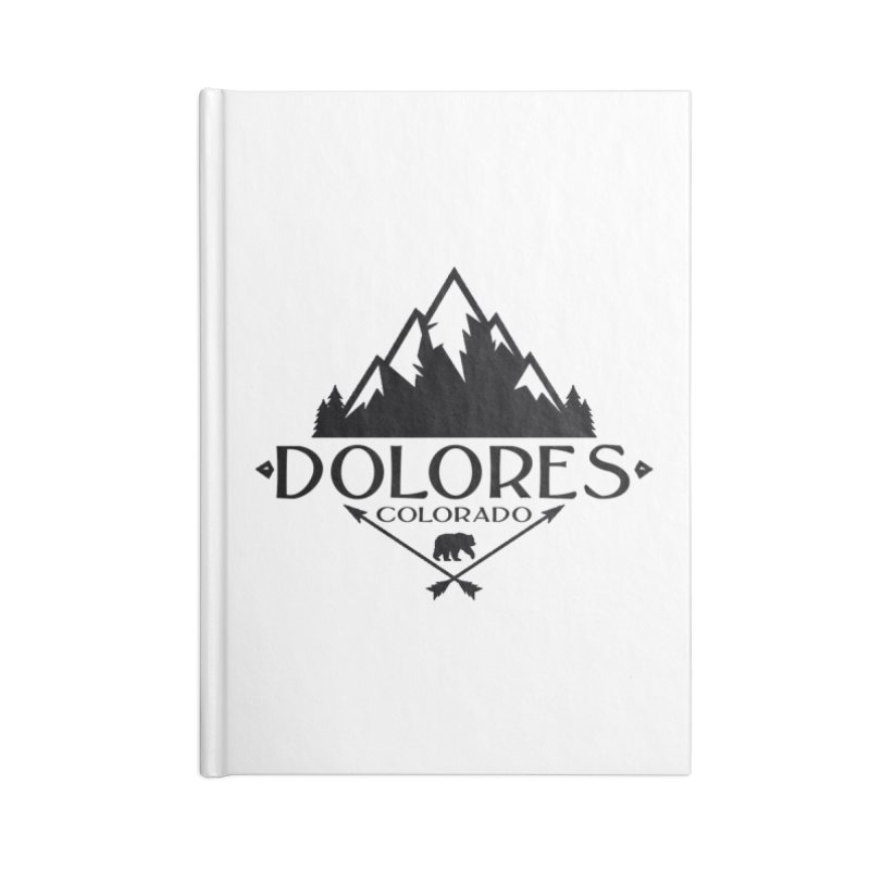 Dolores Colorado Bear Badge Accessories Lined Journal Notebook by dolores outfitters's Artist Shop