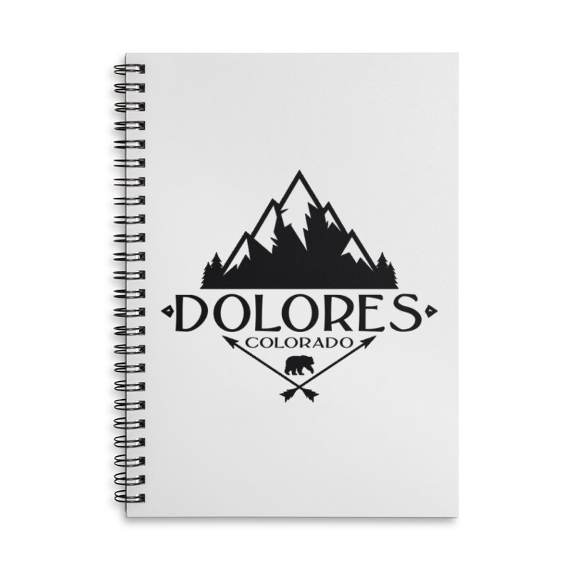 Dolores Colorado Bear Badge Accessories Lined Spiral Notebook by dolores outfitters's Artist Shop