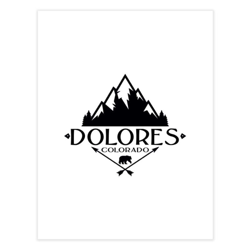 Dolores Colorado Bear Badge Home Fine Art Print by dolores outfitters's Artist Shop