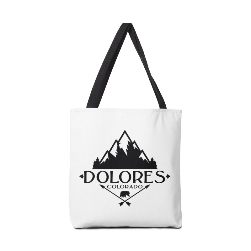 Dolores Colorado Bear Badge Accessories Tote Bag Bag by dolores outfitters's Artist Shop