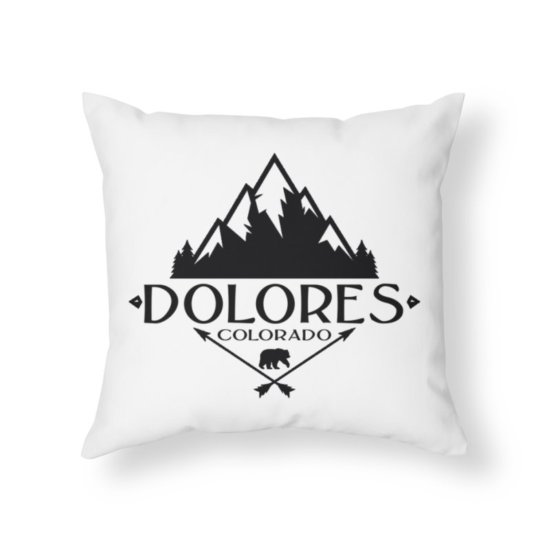Dolores Colorado Bear Badge Home Throw Pillow by dolores outfitters's Artist Shop