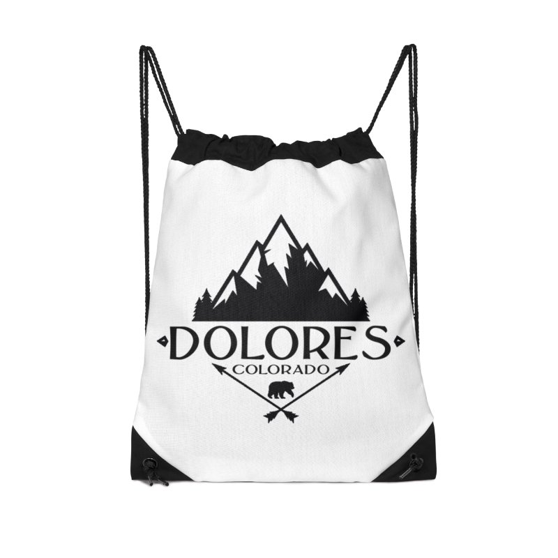 Dolores Colorado Bear Badge Accessories Drawstring Bag Bag by dolores outfitters's Artist Shop