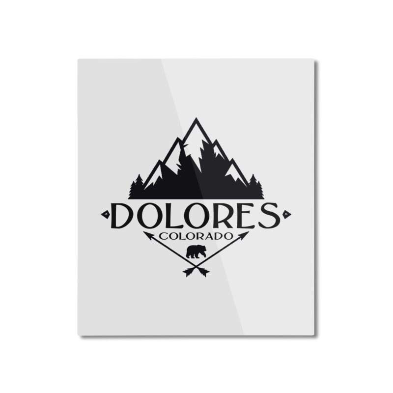 Dolores Colorado Bear Badge Home Mounted Aluminum Print by dolores outfitters's Artist Shop