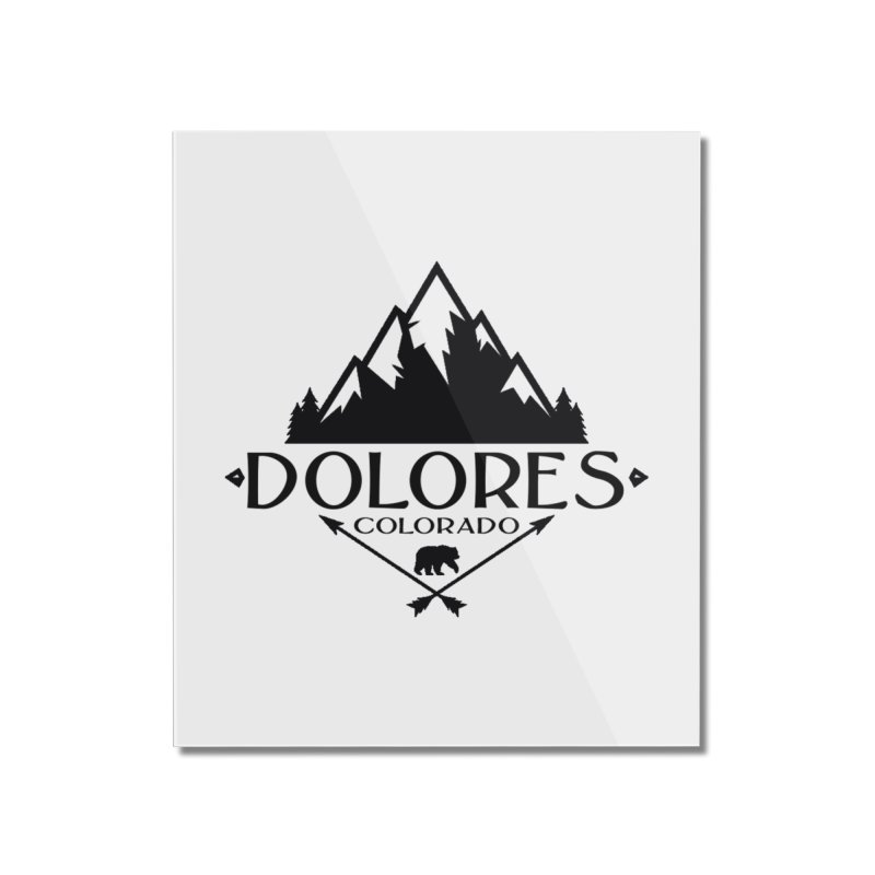Dolores Colorado Bear Badge Home Mounted Acrylic Print by dolores outfitters's Artist Shop