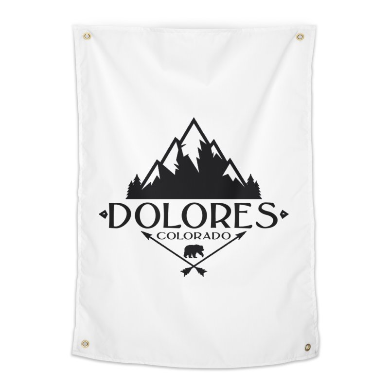 Dolores Colorado Bear Badge Home Tapestry by dolores outfitters's Artist Shop