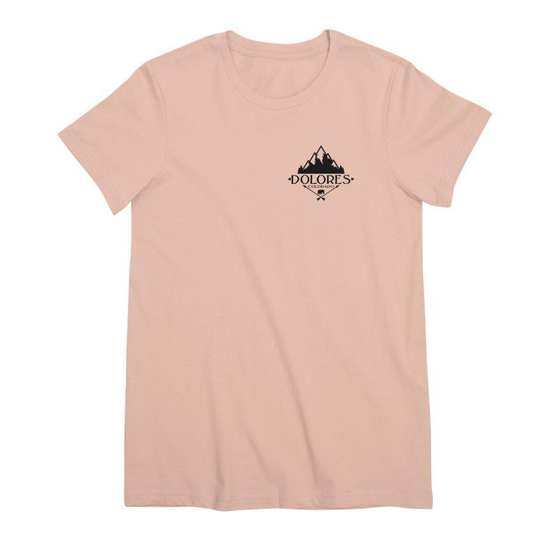 Dolores Colorado Bear Badge Women's Premium T-Shirt by dolores outfitters's Artist Shop
