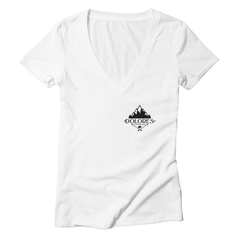 Dolores Colorado Bear Badge Women's Deep V-Neck V-Neck by dolores outfitters's Artist Shop