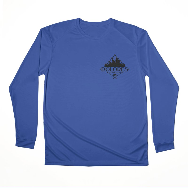 Dolores Colorado Bear Badge Men's Performance Longsleeve T-Shirt by dolores outfitters's Artist Shop