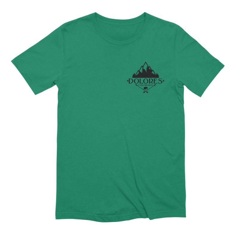 Dolores Colorado Bear Badge Men's Extra Soft T-Shirt by dolores outfitters's Artist Shop