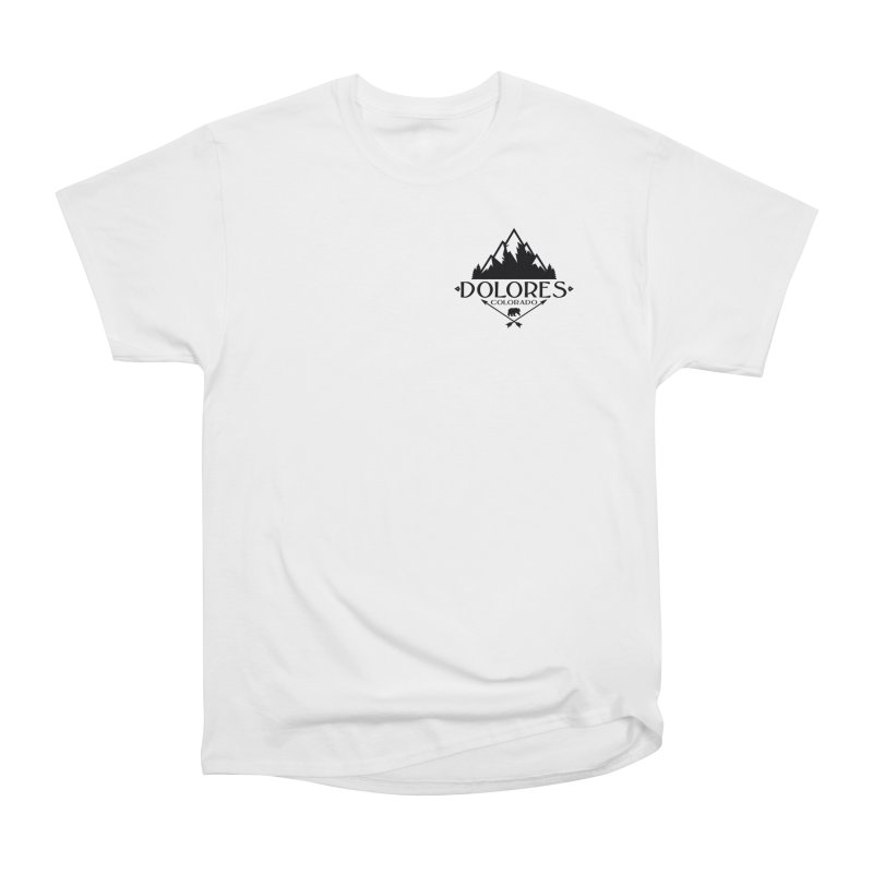 Dolores Colorado Bear Badge Men's Heavyweight T-Shirt by dolores outfitters's Artist Shop