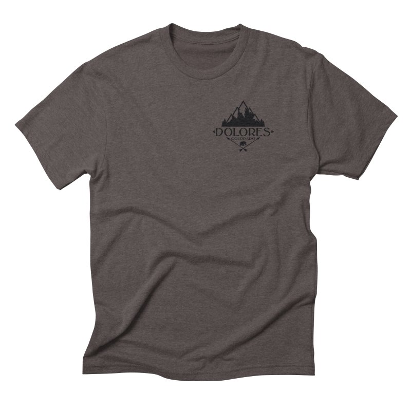 Dolores Colorado Bear Badge Men's Triblend T-Shirt by dolores outfitters's Artist Shop