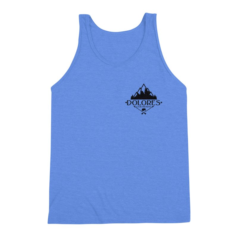 Dolores Colorado Bear Badge Men's Triblend Tank by dolores outfitters's Artist Shop