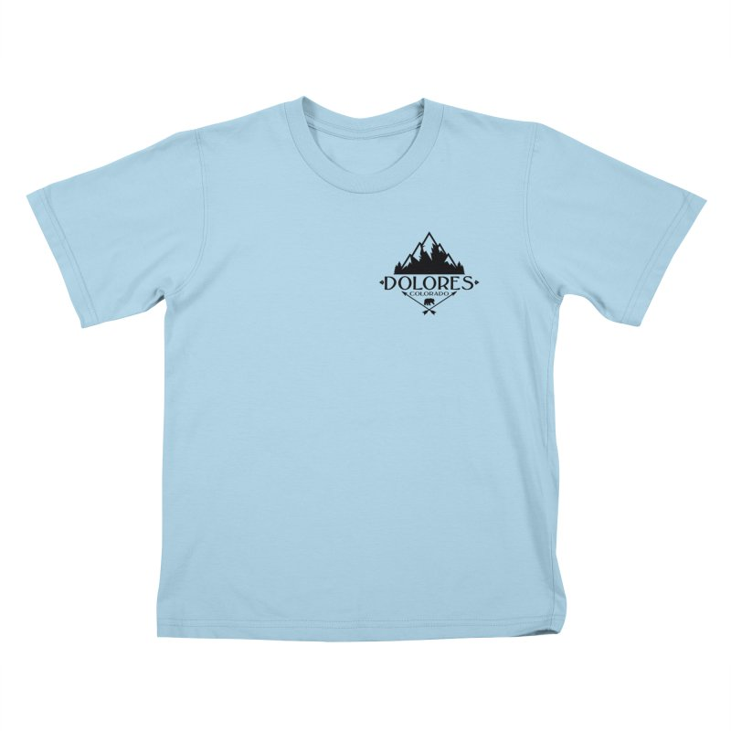 Dolores Colorado Bear Badge Kids T-Shirt by dolores outfitters's Artist Shop