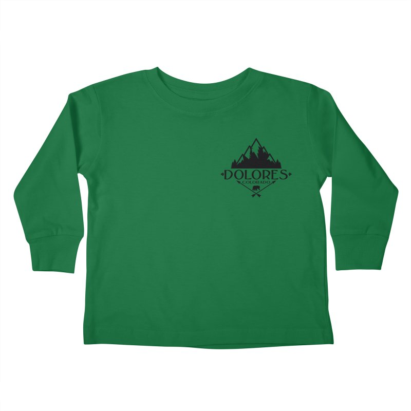 Dolores Colorado Bear Badge Kids Toddler Longsleeve T-Shirt by dolores outfitters's Artist Shop