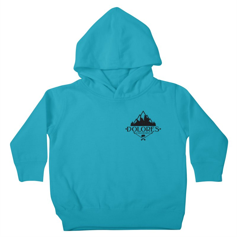Dolores Colorado Bear Badge Kids Toddler Pullover Hoody by dolores outfitters's Artist Shop