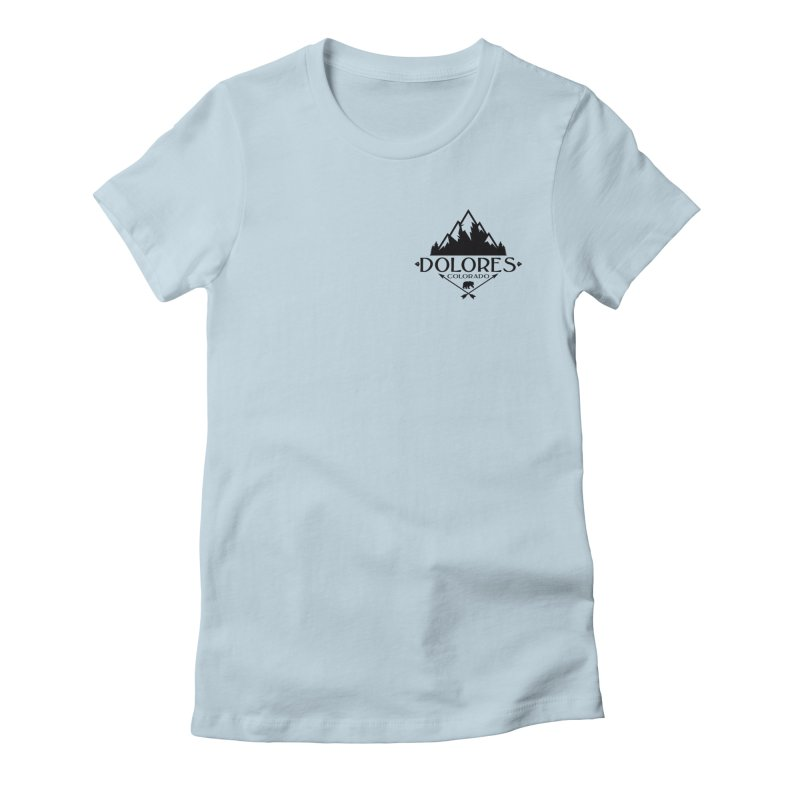 Dolores Colorado Bear Badge Women's Fitted T-Shirt by dolores outfitters's Artist Shop