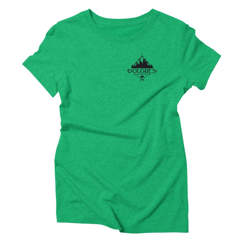 Dolores Colorado Bear Badge Women's Triblend T-Shirt by dolores outfitters's Artist Shop