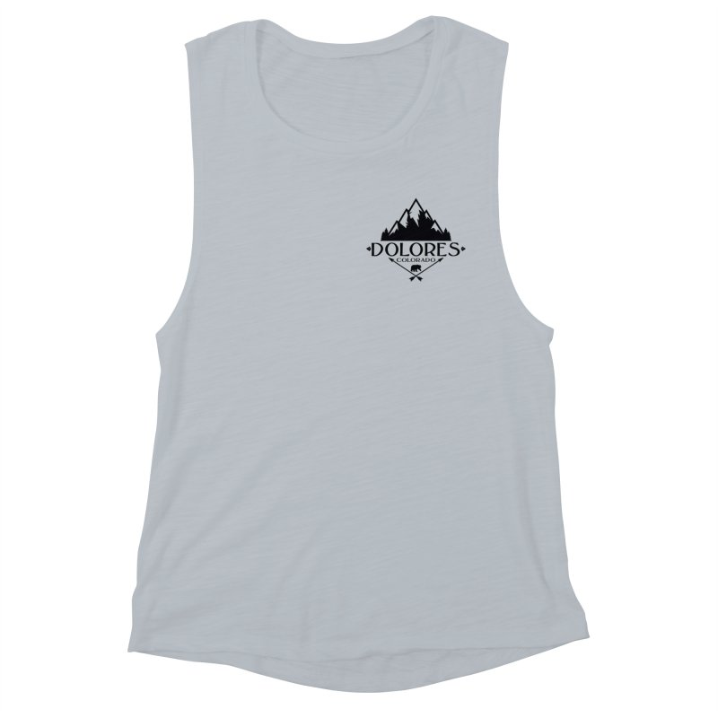 Dolores Colorado Bear Badge Women's Muscle Tank by dolores outfitters's Artist Shop