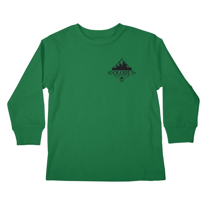 Dolores Colorado Bear Badge Kids Longsleeve T-Shirt by dolores outfitters's Artist Shop