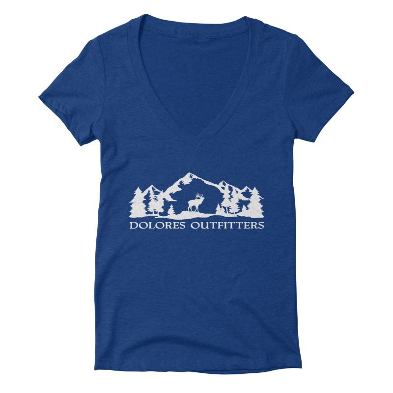 Dolores Outfitters Elk Mountain Women's Deep V-Neck V-Neck by dolores outfitters's Artist Shop