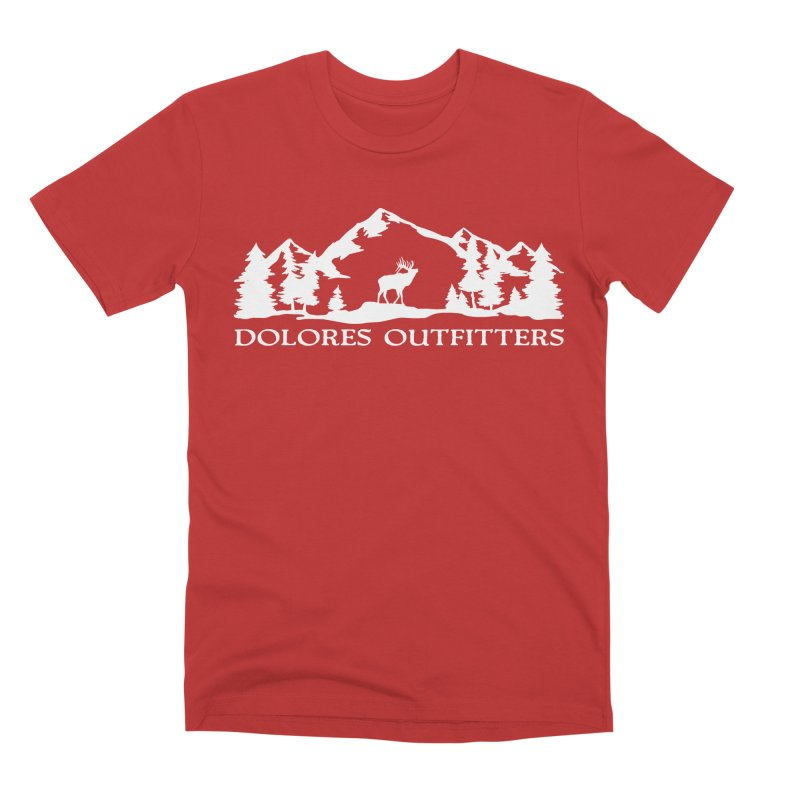 Dolores Outfitters Elk Mountain Men's Premium T-Shirt by dolores outfitters's Artist Shop
