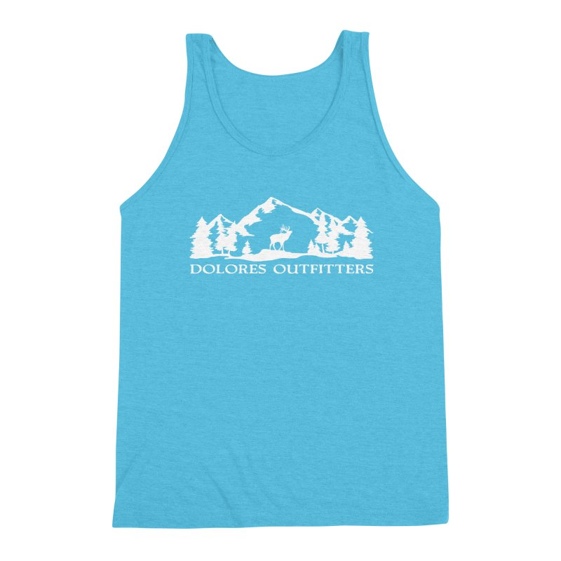 Dolores Outfitters Elk Mountain Men's Triblend Tank by dolores outfitters's Artist Shop