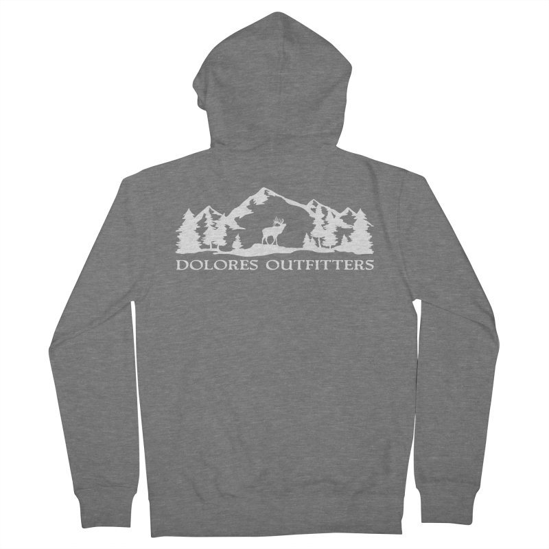 Dolores Outfitters Elk Mountain Men's French Terry Zip-Up Hoody by dolores outfitters's Artist Shop