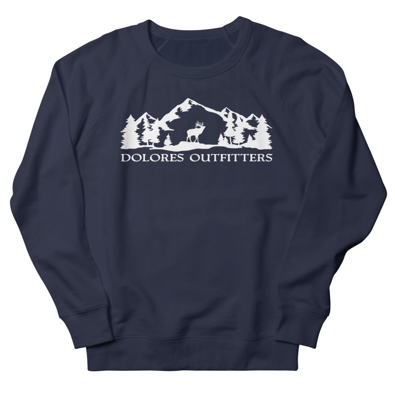 Dolores Outfitters Elk Mountain Men's French Terry Sweatshirt by dolores outfitters's Artist Shop