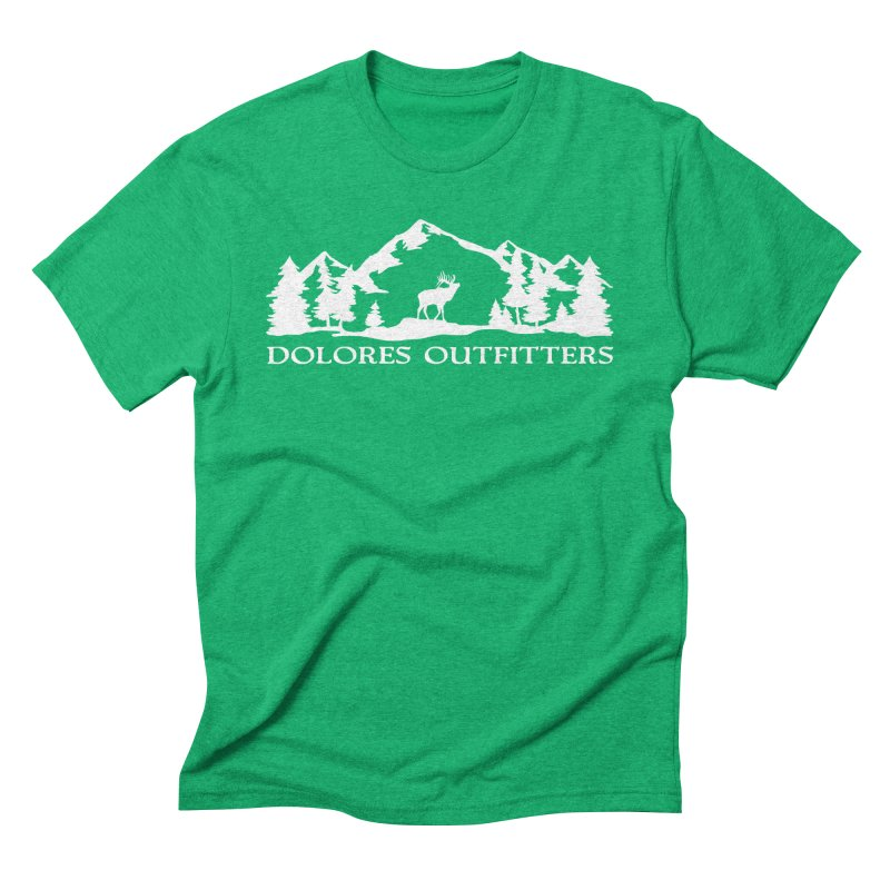 Dolores Outfitters Elk Mountain Men's Triblend T-Shirt by dolores outfitters's Artist Shop