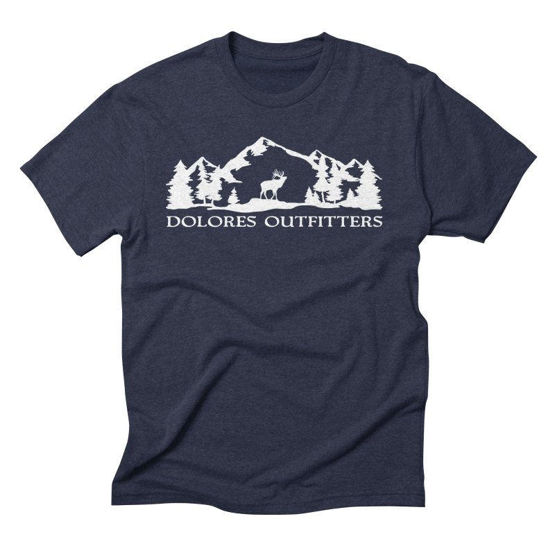 Dolores Outfitters Elk Mountain in Men's Triblend T-Shirt Navy by dolores outfitters's Artist Shop