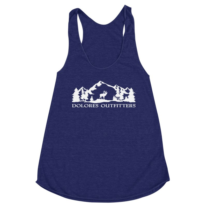 Dolores Outfitters Elk Mountain Women's Racerback Triblend Tank by dolores outfitters's Artist Shop
