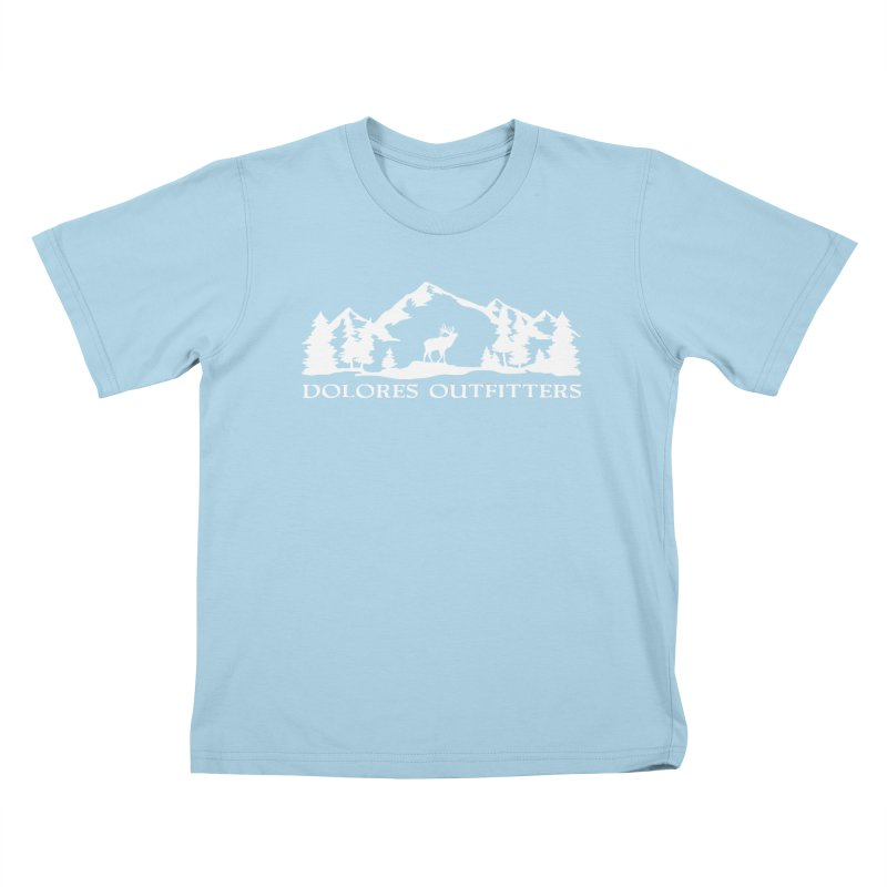 Dolores Outfitters Elk Mountain Kids T-Shirt by dolores outfitters's Artist Shop