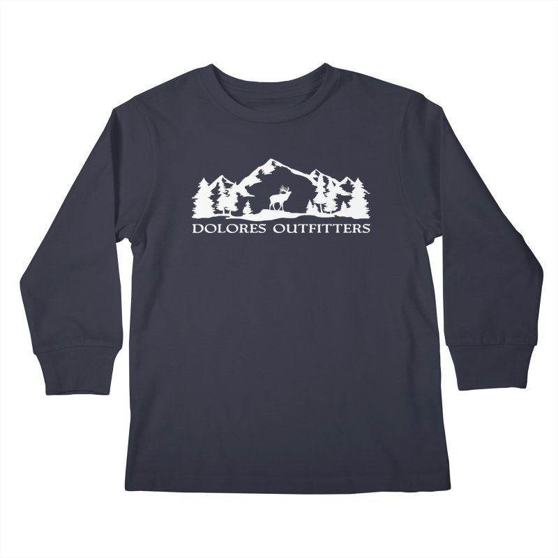 Dolores Outfitters Elk Mountain Kids Longsleeve T-Shirt by dolores outfitters's Artist Shop
