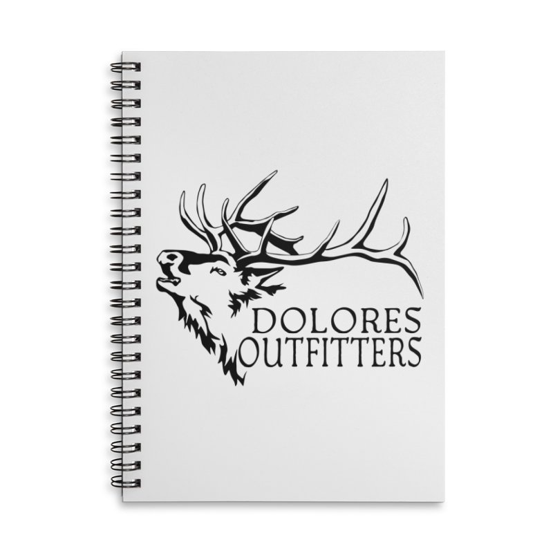 Elk Dolores Outfitters Accessories Lined Spiral Notebook by dolores outfitters's Artist Shop