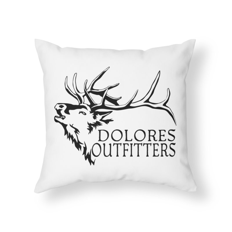 Elk Dolores Outfitters Home Throw Pillow by dolores outfitters's Artist Shop