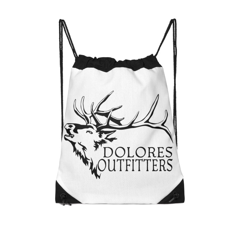 Elk Dolores Outfitters Accessories Drawstring Bag Bag by dolores outfitters's Artist Shop