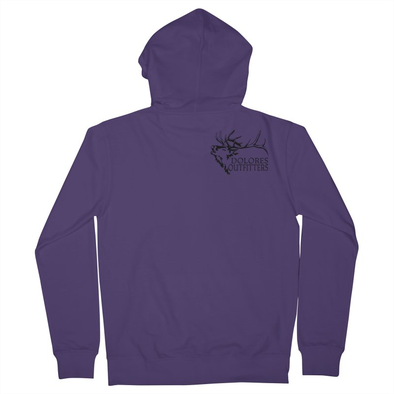 Elk Dolores Outfitters Women's French Terry Zip-Up Hoody by dolores outfitters's Artist Shop