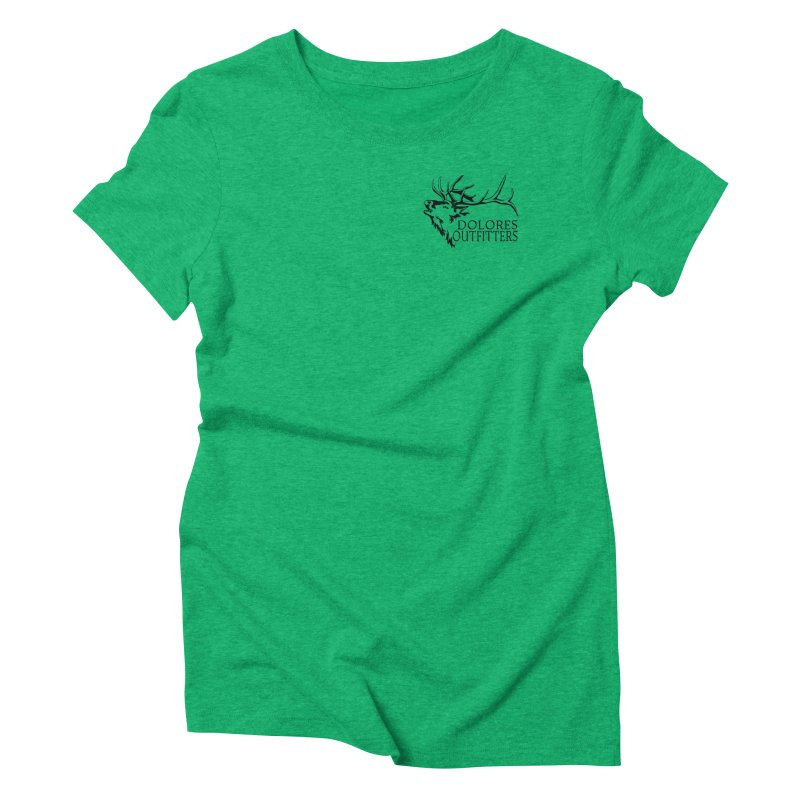 Elk Dolores Outfitters Women's Triblend T-Shirt by dolores outfitters's Artist Shop
