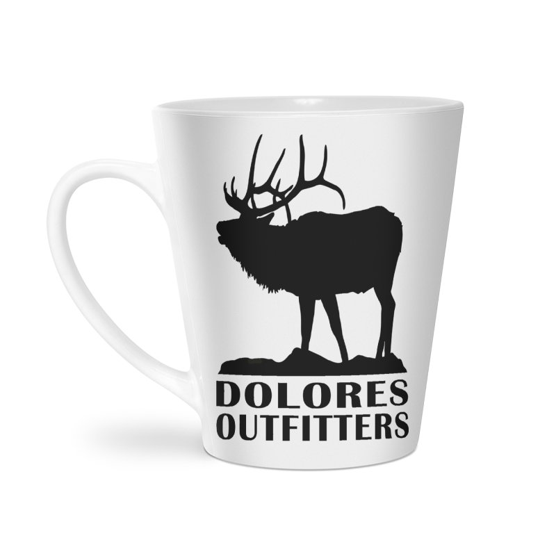 Elk Pocket Design - Black Accessories Latte Mug by dolores outfitters's Artist Shop