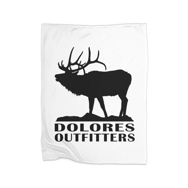 Elk Pocket Design - Black Home Fleece Blanket Blanket by dolores outfitters's Artist Shop