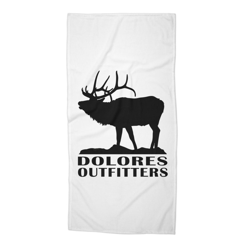 Elk Pocket Design - Black Accessories Beach Towel by dolores outfitters's Artist Shop