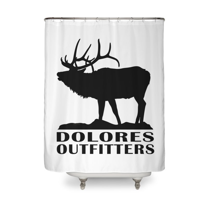 Elk Pocket Design - Black Home Shower Curtain by dolores outfitters's Artist Shop