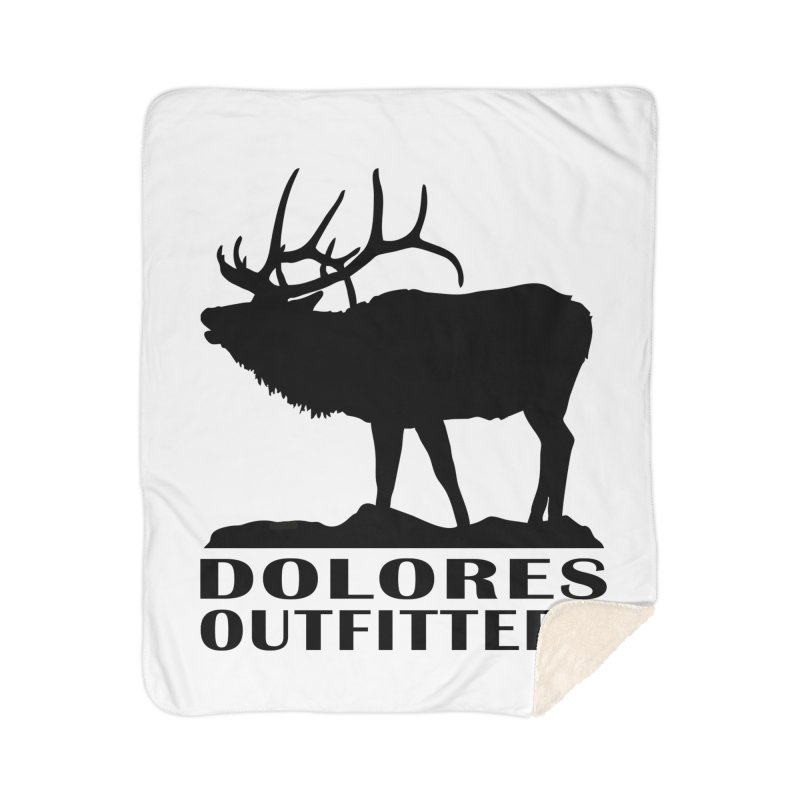 Elk Pocket Design - Black Home Sherpa Blanket Blanket by dolores outfitters's Artist Shop