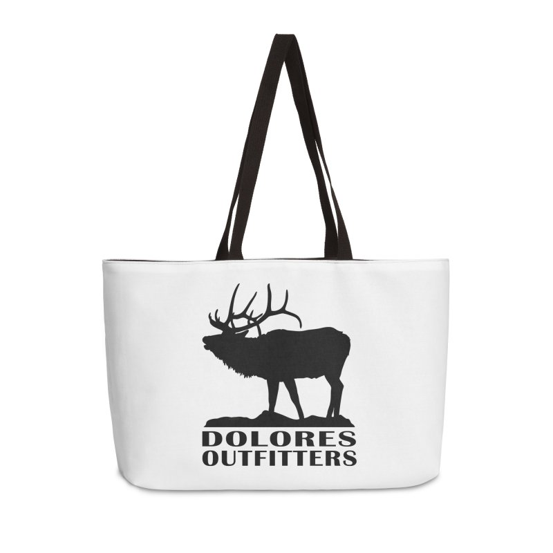 Elk Pocket Design - Black Accessories Weekender Bag Bag by dolores outfitters's Artist Shop