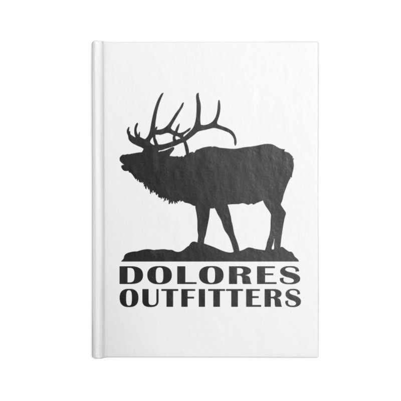 Elk Pocket Design - Black Accessories Lined Journal Notebook by dolores outfitters's Artist Shop