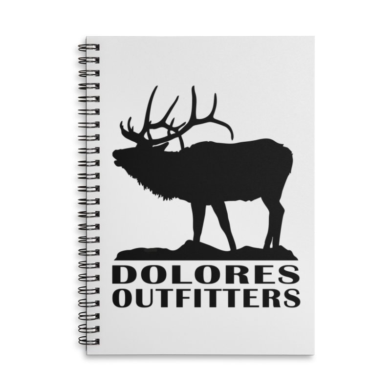 Elk Pocket Design - Black Accessories Lined Spiral Notebook by dolores outfitters's Artist Shop
