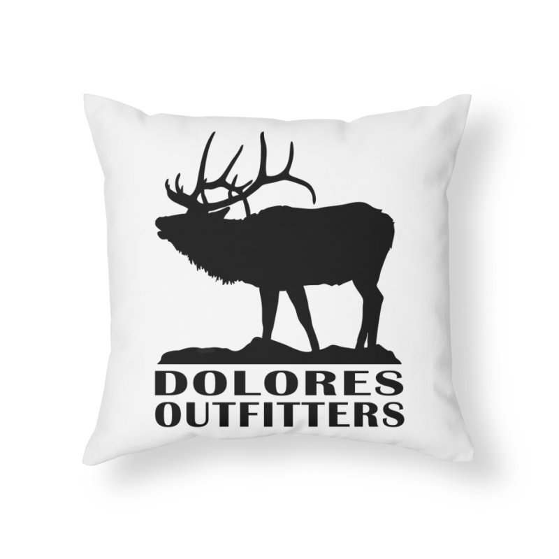 Elk Pocket Design - Black Home Throw Pillow by dolores outfitters's Artist Shop