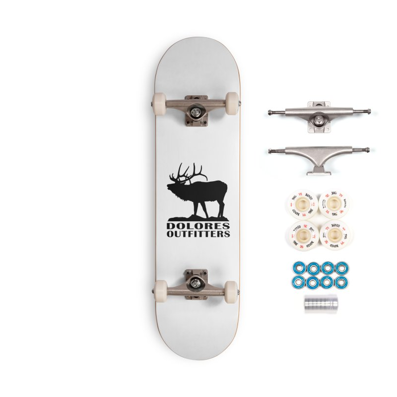 Elk Pocket Design - Black Accessories Complete - Premium Skateboard by dolores outfitters's Artist Shop