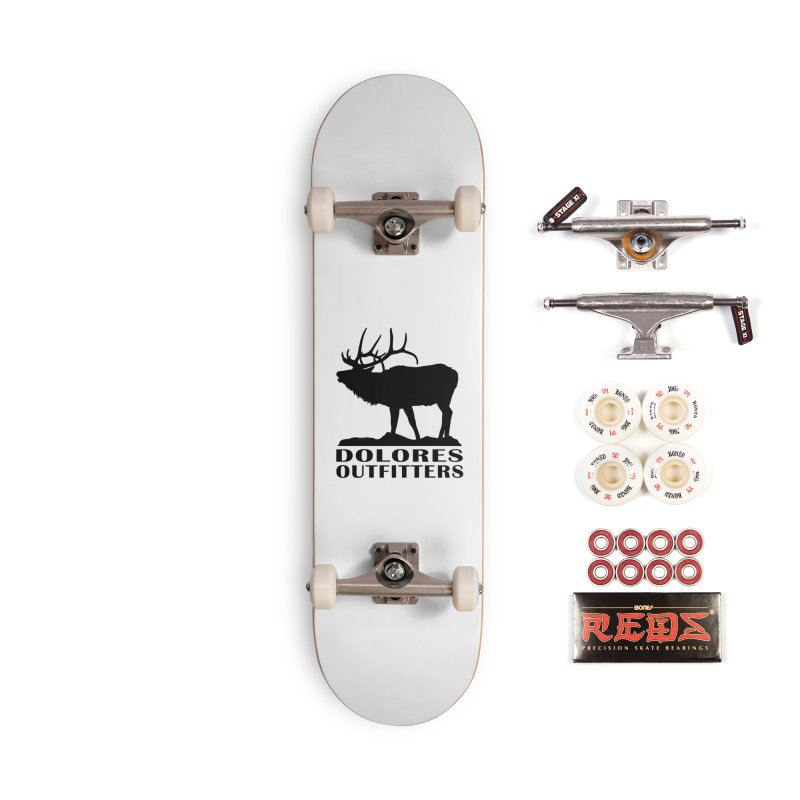 Elk Pocket Design - Black Accessories Complete - Pro Skateboard by dolores outfitters's Artist Shop
