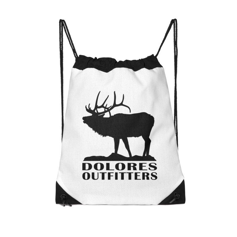 Elk Pocket Design - Black Accessories Drawstring Bag Bag by dolores outfitters's Artist Shop